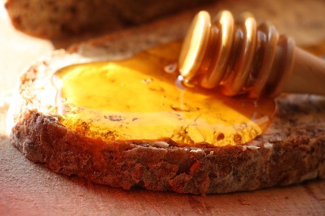 tartine de pain au miel