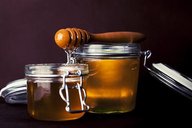 miel en bocaux
